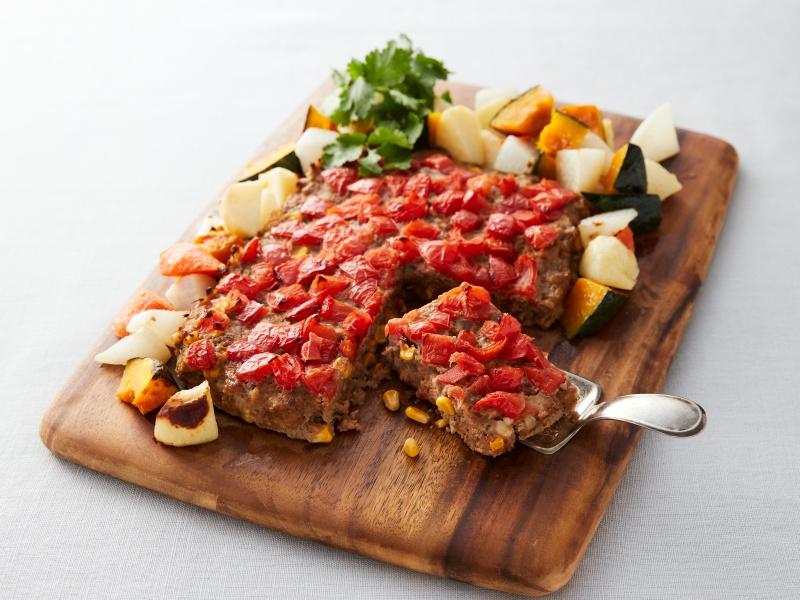 ベジタブルバーグ&野菜のチーズ風味